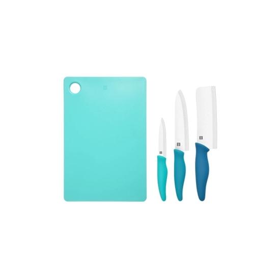 Bộ dao gốm và thớt Xiaomi Huohuo